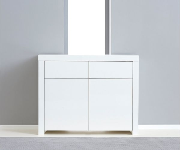 Mark Harris Hereford 2 Door 2 Drawer White High Gloss Sideboard