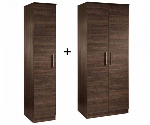 Welcome Furniture Contrast Tall Triple Plain Wardrobe