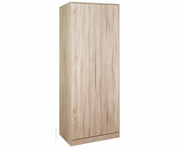 Welcome Furniture Monaco Natural Finish Tall 2ft6in Double Hanging Wardrobe