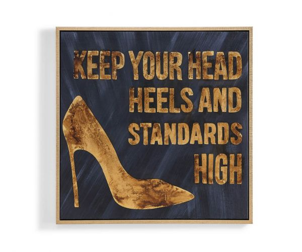 Derrys Furniture High Standards Shoe Wall Art Framed Canvas Print