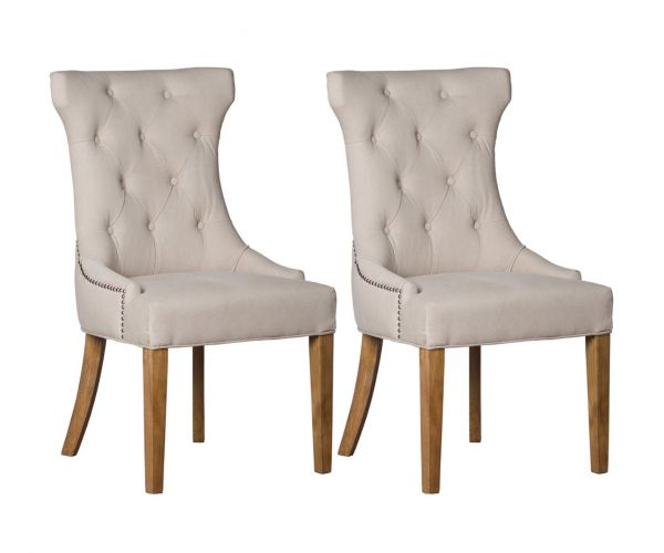 High Wing Ring Backed Dining Chair in Pair