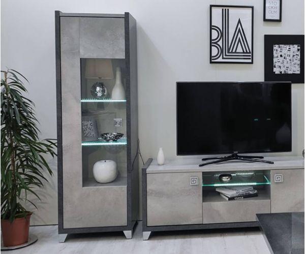 SM Italia Cilton 1 Door Display Cabinet