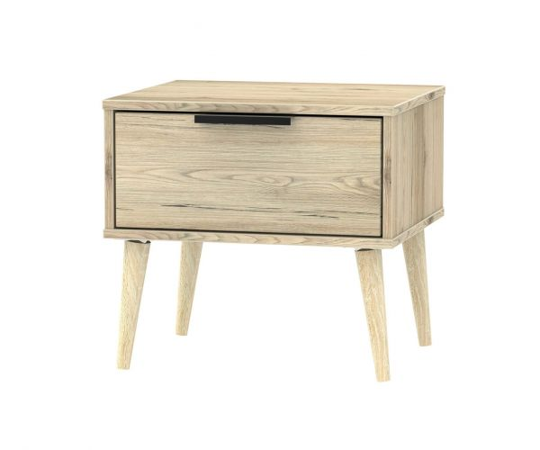 Welcome Furniture Hong Kong Bordeaux Oak 1 Drawer Locker with Natural Solid Wood Legs