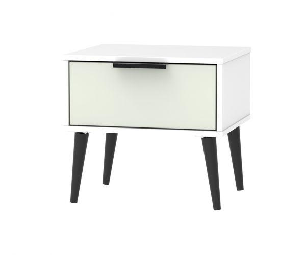 Welcome Furniture Hong Kong Kaschmir Matt 1 Drawer Locker with Black Solid Wood Legs