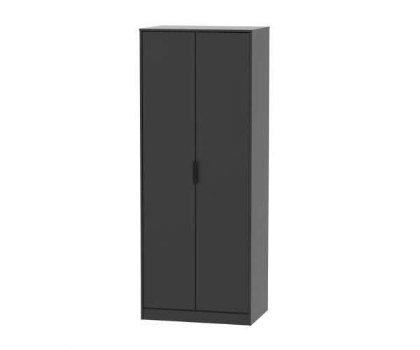 Welcome Furniture Hong Kong Black Matt 2 Door Wardrobe