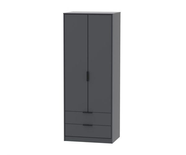 Welcome Furniture Hong Kong Graphite 2 Door 2 Drawer Combi Wardrobe