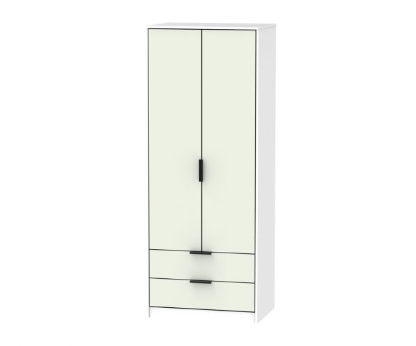 Welcome Furniture Hong Kong Kaschmir Matt 2 Door 2 Drawer Combi Wardrobe