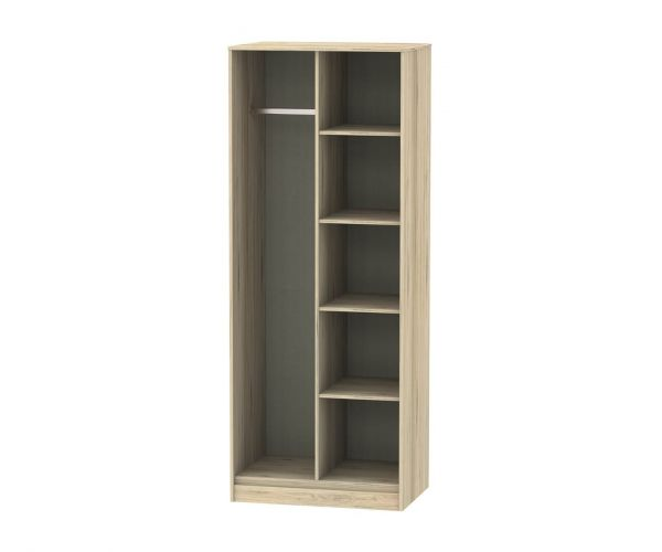 Welcome Furniture Hong Kong Bordeaux Oak Open Shelf Wardrobe
