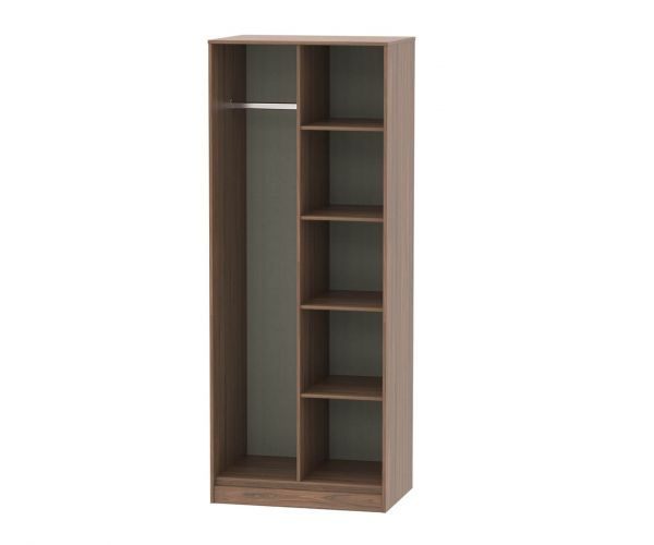 Welcome Furniture Hong Kong Carini Walnut Open Shelf Wardrobe