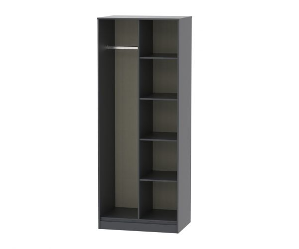 Welcome Furniture Hong Kong Graphite Open Shelf Wardrobe