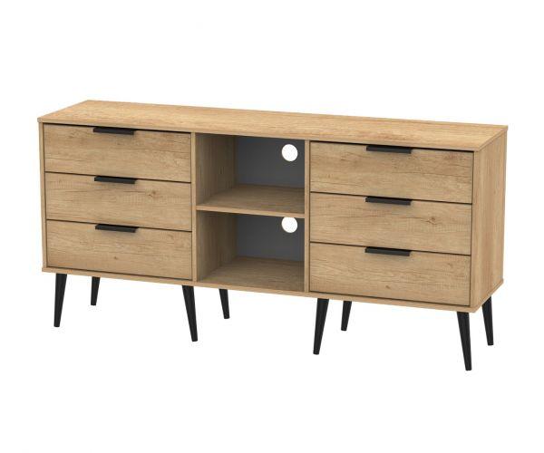 Welcome Furniture Hong Kong Nebraska Oak 6 Drawer TV Unit