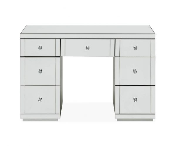Derrys Furniture Hollywood Glass 7 Drawers Dressing Table