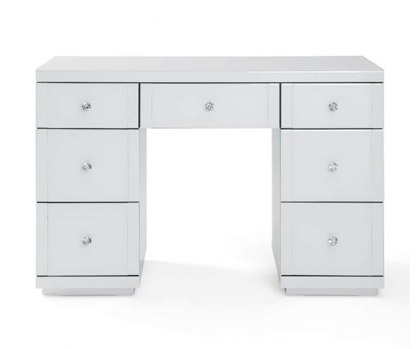 Derrys Furniture Hollywood White 7 Drawers Dressing Table