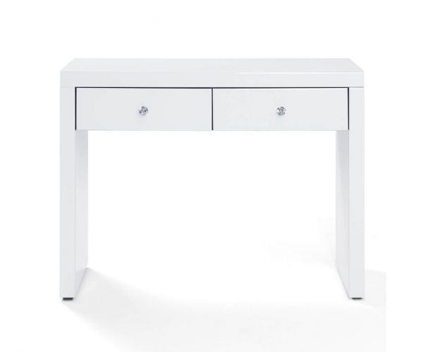 Derrys Furniture Hollywood White 2 Drawer Console Table