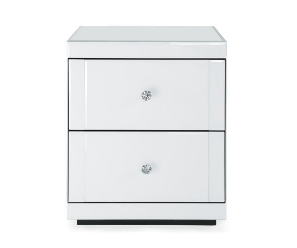 Derrys Furniture Hollywood White 2 Drawer End Table