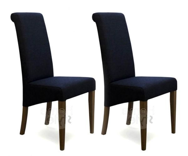 Homestyle GB Italia Beige Fabric Dining Chair in Pair