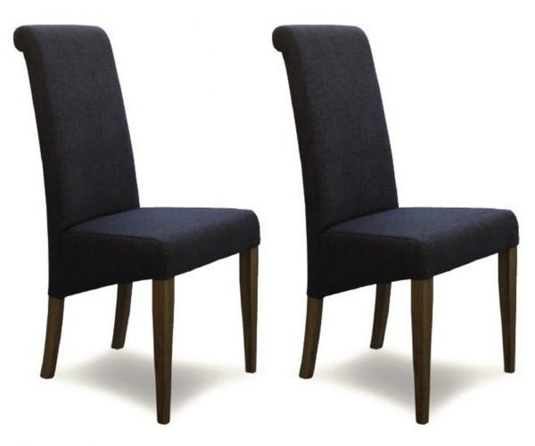 Homestyle GB Italia Stone Fabric Dining Chair in Pair