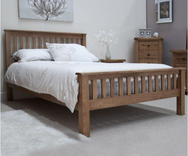 Homestyle GB Rustic Oak Bed Frame