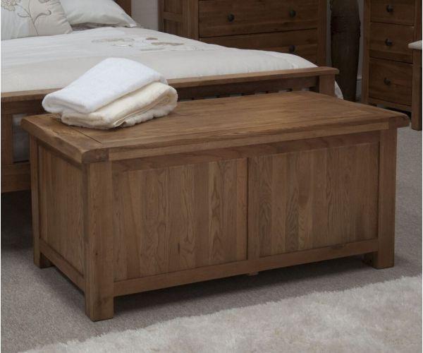 Homestyle GB Rustic Oak Blanket Box