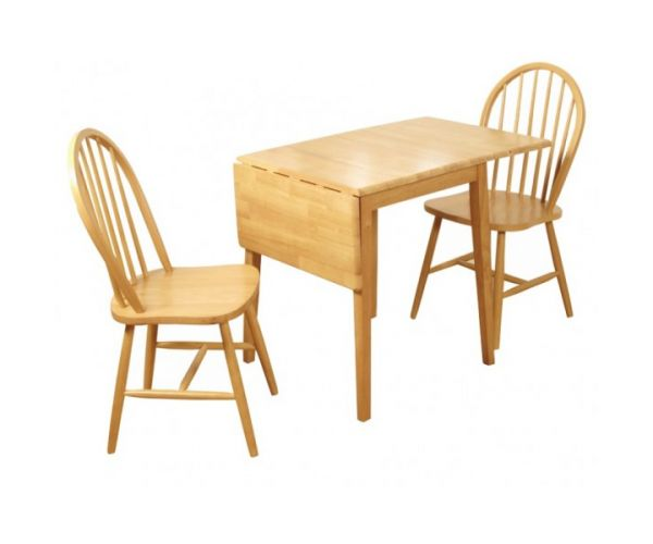 Annaghmore Honeymoon Drop Leaf Dining Table with 2 Dining Chairs