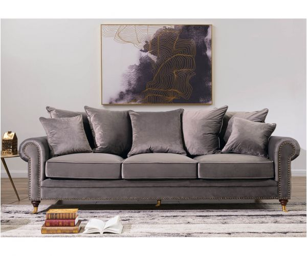 Derrys Furniture Hampton Grey 3 Seater Sofa