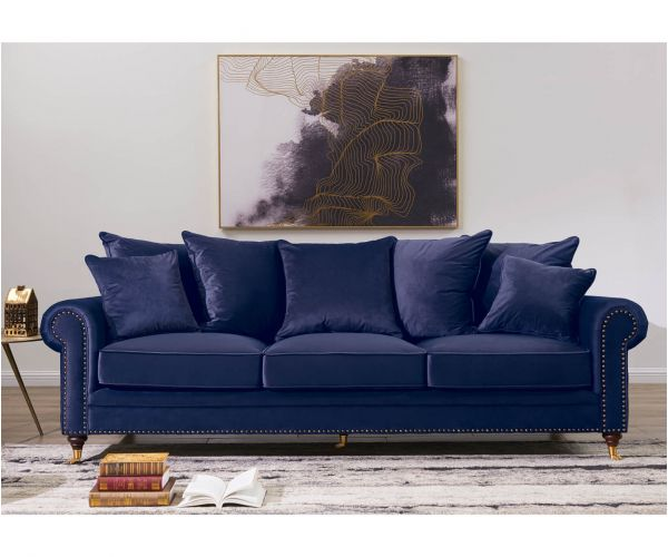 Derrys Furniture Hampton Blue 3 Seater Sofa