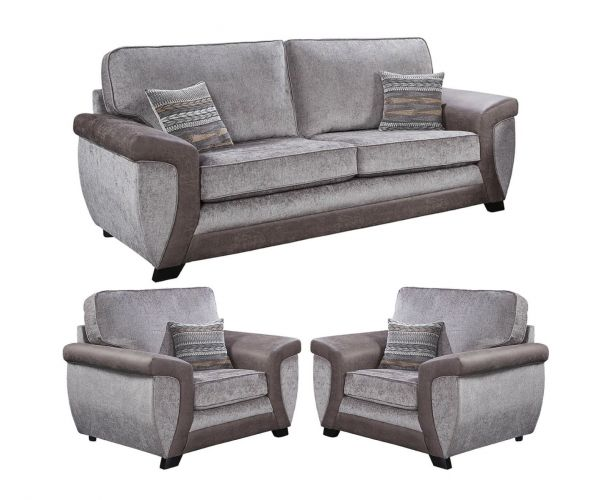 Lebus Illusion Fabric 3+1+1 Sofa Set