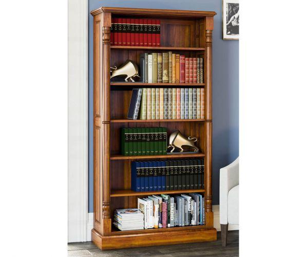 Baumhaus La Reine Mahogany Tall Open Bookcase