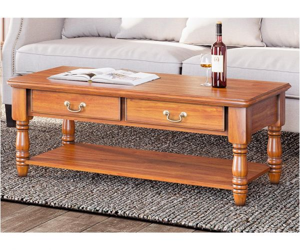 Baumhaus La Reine Mahogany Coffee Table with Drawers