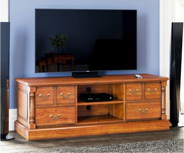 Baumhaus La Reine Mahogany Widescreen Television Cabinet