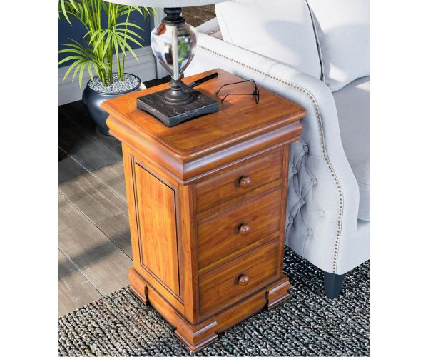 Baumhaus La Reine Mahogany Bedside Cabinet with Four Drawers