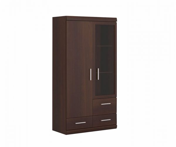 FTG Imperial 2 Door 3 Drawer Glazed Display Cabinet