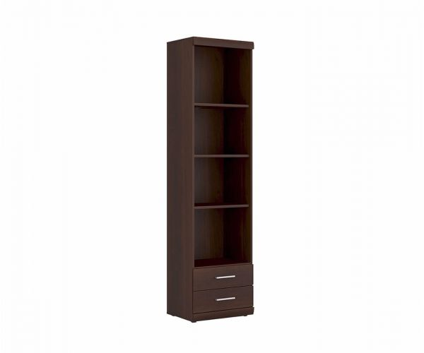 FTG Imperial Tall 2 Drawer Narrow Cabinet with Open Shelving