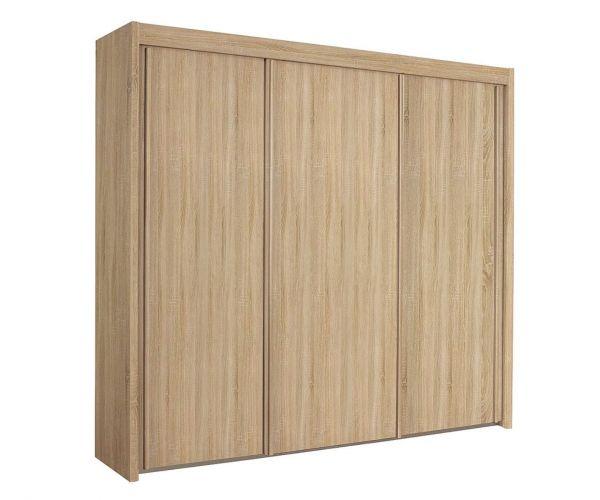 Rauch Imperial Sanremo Oak Light Colour 3 Door Sliding Wardrobe (W225cm)