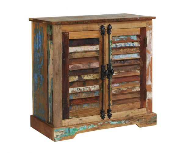 Indian Hub Coastal Reclaimed Wood 2 Door Sideboard