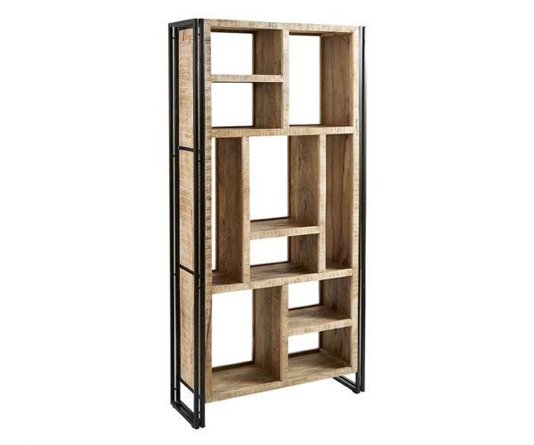 Indian Hub Cosmo Industrial Multi Shelf Bookcase