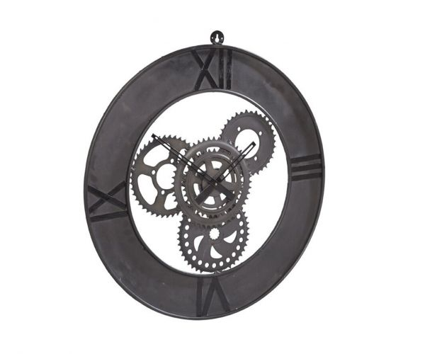 Indian Hub Factory Industrial Metal Wall Clock