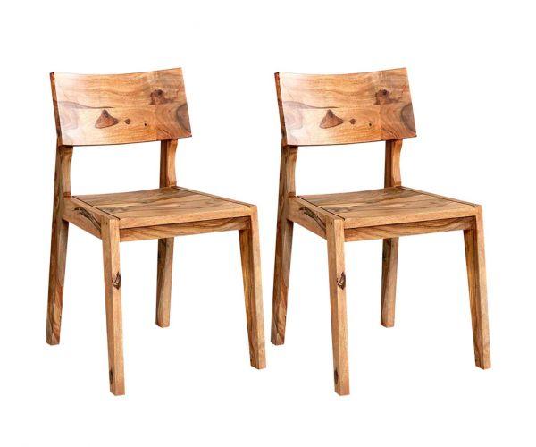 Indian Hub Jodhpur Sheesham Dining Chair in Pair