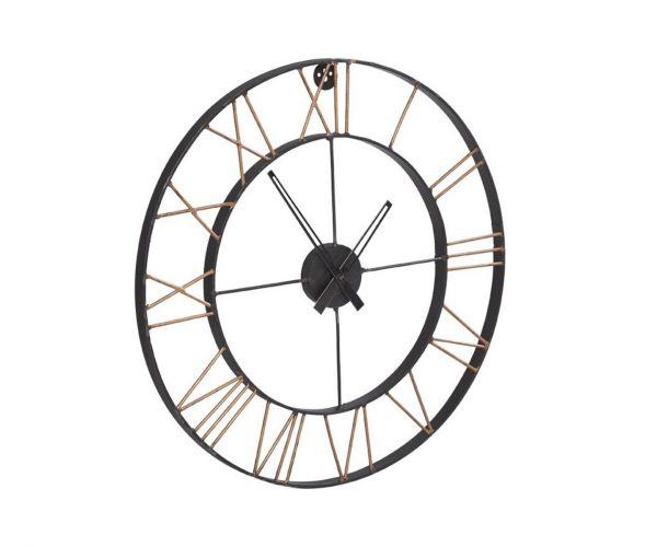 Indian Hub Lincoln Industrial Metal Wall Clock Large