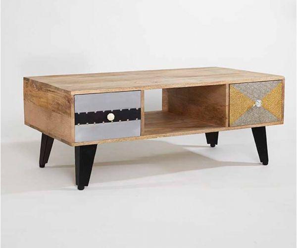 Indian Hub Sorio 2 Drawer Coffee Table