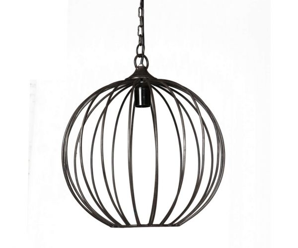 Indian Hub Sphere Cage Hanging Lamp