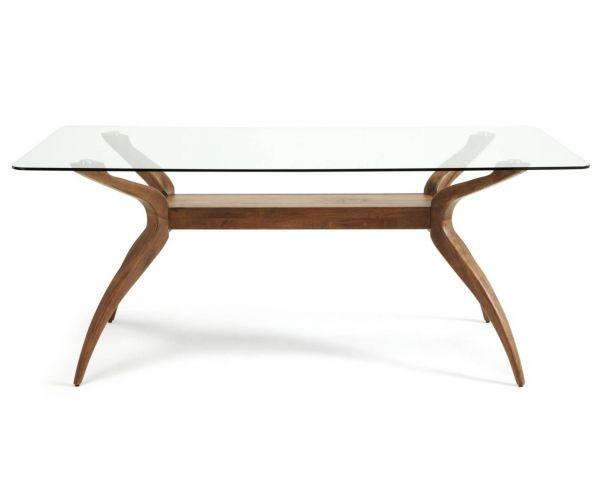Serene Furnishings Islington Rectangular Glass Dining Table Only