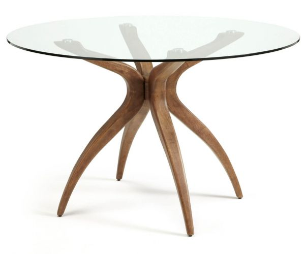 Serene Furnishings Islington Round Glass Dining Table Only