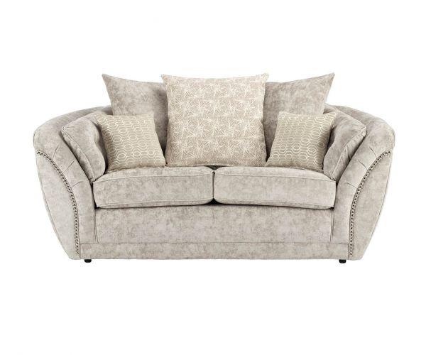 Lebus Izzy Nickel Fabric 2 Seater Sofa