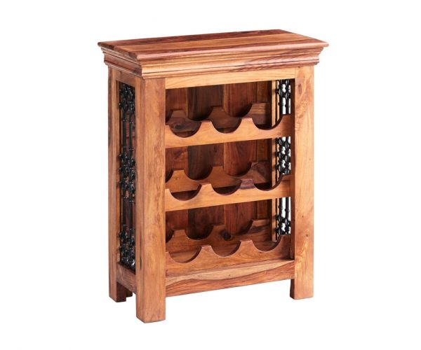 Indian Hub Jali Sheesham Wine Rack