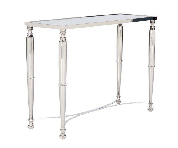 Serene Furnishings Jodhpur Mirrored Glass and Nickel Console Table