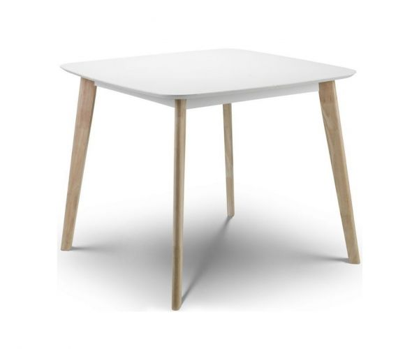 Julian Bowen Casa White and Oak Square Dining Table Only