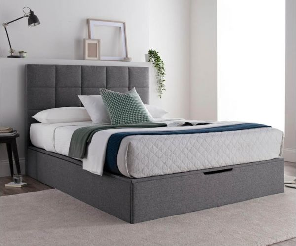 Kaydian Beds Whitburn Spirit Platine Fabric Ottoman Bed Frame