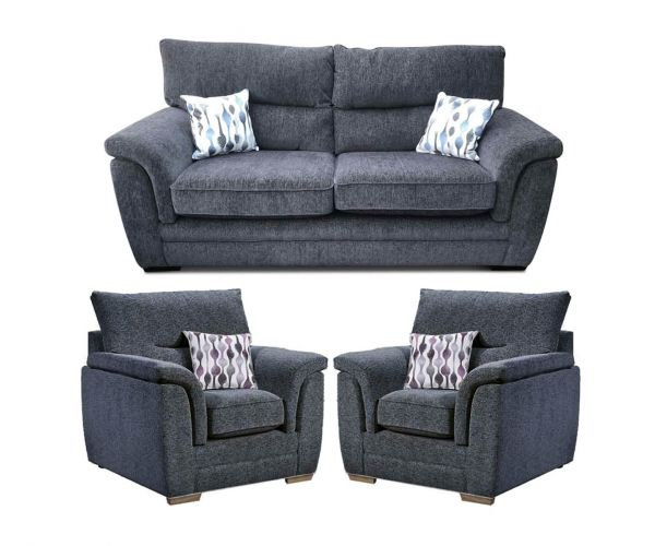 Lebus Keaton Fabric 3+1+1 Sofa Set