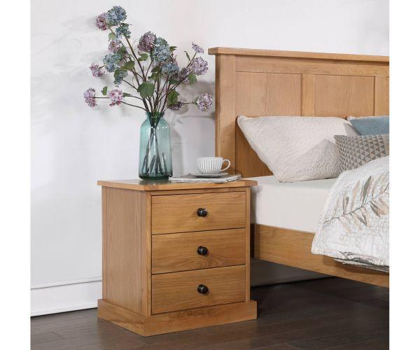 Sweet Dreams Joshua Wooden 2 Drawer Bedside Cabinet